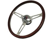 1967 - 1968 Chevy Gm S6 Classic Wood Steering Wheel Kit Tri-color Bow Tie