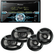 Double-din Cd Player W/ Mixtrax Pioneer Two Pairs 6.5 + 6x9 Car Speakers