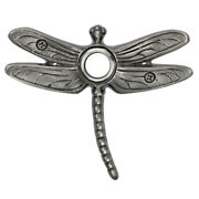 Surface Mount Doorbell Summer Dragonfly Pewter Lighted Push Button Ringer