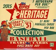 2015 Topps Heritage And03951 Collection Baseball Hobby 24 Box Case Blowout Cards