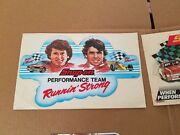 Very Nice Vintage Lot Of Two 2 Rare Snap- On Tools Decals Stickers New Old