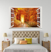 3d Road Forest 52 Open Windows Mural Wall Print Decal Deco Aj Wallpaper Ivy
