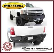 Smittybilt M1 Front 612820 And Rear 614820 Bumpers For 07.5-10 Chevy 2500 3500 Hd