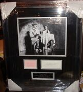 Peter Cook And Dudley Moore Vintage Signed Montage Aftal