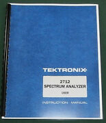 Tektronix 2712 User Manual Comb Bound And Plastic Protective Covers