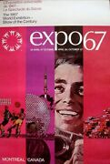 Expo 67 Montreal Poster Father Vintage Rare Superb 20x30 Nm Not A Repro
