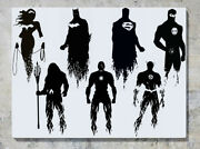 Justice League Superheroes Dc Comic Characters Decal Wall Art Sticker Picture