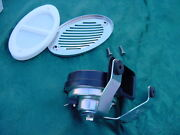 Boat Horn Flush Mount With Stainless Cover And Bracket Marine 12 Volt New