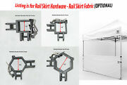 Impact Canopy 10x10 Canopy Rail Skirt Hardware For Pop Up Canopy Tent Half Wall