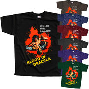 Blood Of Dracula H.l. Strock Movie Poster 1957 T-shirtblack All Sizes S-5xl