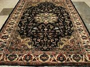 Hot Brownie Choco Medallion Area Rug Wool Silk Hand Knotted Carpet 6 X 4and039