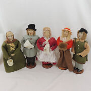 Vintage Christmas Caroler Figurines Lot Of 5 Set Holiday Collectible 12 Dolls