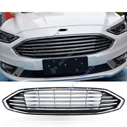 Oem Front Bumper Vent Hood Middle Grille Grill For Ford Fusion 2017-2018