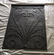 Gothic French Vent Wall Register Radiator Covers W/ Bronze