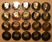 Full Roll Of 20 Silver Proof 2005 S Kennedy Half Dollars
