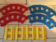 Replacement Lot Of 8 Vintage Playskool Plastic Track Pcs 4 Child Ride On Train