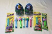 Easter Pez Candy Roll Dispensers-easter Hippity Hoppities Chicks Etc. 3324