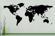 World Map Countries Continents Globe Wall Art Decal Sticker Picture Poster