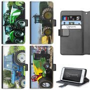 Tractor Phone Case Iphone 6,7,8 Plus, X Pu Leather Flip Wallet Cover For Apple