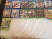 Mid-condition Video Games. Xbox One, Ps4, And Wii U.