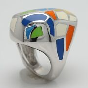Artist Ring Silver 925 Italy Made Inspired By Famous Artist Enamel Ring Size 7