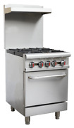 Hakka Heavy Duty Commercial 24 Gas Burner Stove 4 Burners With Oven Cooker