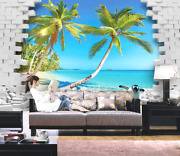 3d Coco Beach 669 Wall Paper Wall Print Decal Deco Indoor Wall Mural Ca