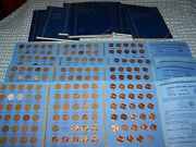 Full Book Of Lincoln Wheat 1941-1958 + Memorial 1959-1974 P,d,s Cent Collection