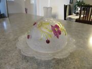 Eapg Us Glass Co. Early American Pattern Pickle Butter Dish Floradora Bohemian