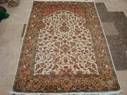 New Tree Of Life Birds Peace Area Rug Hand Knotted Wool Silk Carpet 6 X 4'