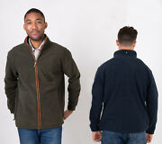Hazy Blue Finley Mens Zip Up Country Fleece Jacket Available In Navy Green S-4xl