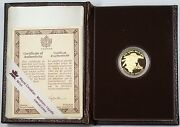 1989 Canada Sainte-marie 100 Dollar 1/4 Oz Gold Proof Coin As Issued
