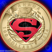 2014 Canada 14kt Gold Superman 100 Coin Iconic Comic Book Covers 596
