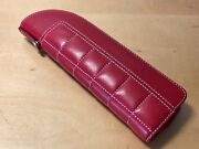 Montegrappa 1912 - Case Leather Red For 2 Pens - Ferrari Collection