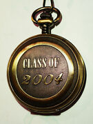 Milan Japan Quartz Movement Pocket Watch With Chain Class Of 2004 New Battery