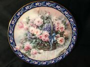 1992 Le First Issue Roses Lena Liu's Basket Bouquets Wlgeorge Collectible Plate