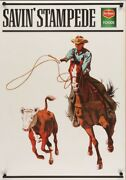 Del Monte Savin Stampede Style A 1975 Vintage Advertising Poster 25x35 Near Mint