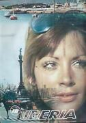Iberia Vintage 1969 Travel Poster Spain Airlines 26x38