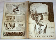 1945 Linking Ring Magician Magic Card Stage Tricks Mentalism Occult Mind Reading