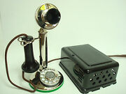 Antique Western Electric Dial Candlestick Telephone 51al And 534subset Ringer