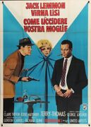How To Murder Your Wife Italian 2f Movie Poster 39x55 Virna Lisi Jack Lemmon 65