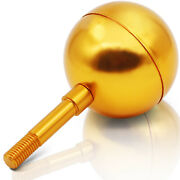 Anley Authentic 3 Flagpole Ball Topper Ornament - Gold Anodized Aluminum Finish