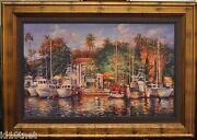 Cao Yong - Lahaina Afternoon Hawaii S/n, H/e Framed Canvas - Hand Embellished