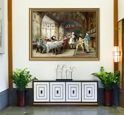 3d Dining Table 5 Fake Framed Poster Home Decor Print Painting Unique Art Summer