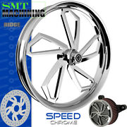 Smt Machining Speed Chrome Front Wheel Harley Touring Bagger 21