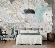 3d World Country Map Route 5 Wall Paper Wall Print Decal Wall Deco Indoor Murals