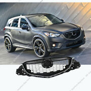 Chrome Front Bumper Middle Center Grille Grill Vent Hood For Mazda Cx-5 2013-15
