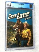 Gene Autry Comics 6 March 1947 Dell Cgc 6.5 Off-white To White Pages Golden Age
