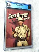 Gene Autry Comics 7 May/june 1947 Dell Cgc 7.5 Cream/off-white Pages Golden Age
