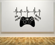 My Heart Beats Xbox 360 Controller Gampad Wall Art Decal Sticker Picture Poster